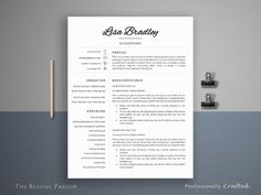 awesome Resume Template 4 Page | Banker CV CreativeWork247 - Fonts, Graphics, ...