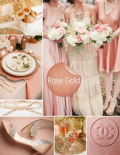 romantic rose gold wedding color ideas for spring 2014