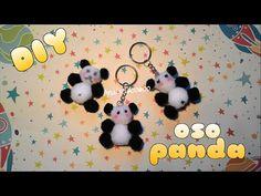 cómo hacer un OSO PANDA de pompones DIY pompom panda bear