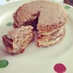 Oatbran and Cocoa Pancakes with nut butter #byon