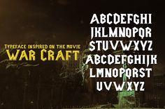 Ancient War Typeface by Juan Casco on @creativemarket