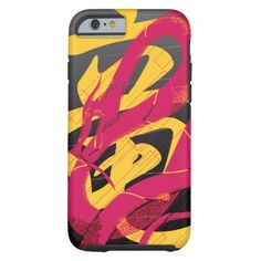 Hotpink Dragon Japanese Dragon Black Background Tough iPhone 6 Case
