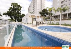 Paisagismo do Porto Teresópolis. Condomínio fechado de apartamentos localizado em Porto Alegre / RS.
