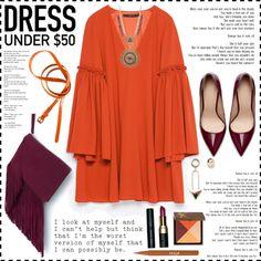 Look #481 (Dress Under $50) by lookat on Polyvore featuring Zara, Amrita Singh, H&M, Bobbi Brown Cosmetics, Stila, Guide London, Summer, fringe, zara and Dressunder50