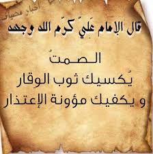 الصمت يكسيك ثوب الوقار Arabic Calligraphy
