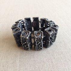 Guy Vidal brutalist bracelet Silver Bead Necklace, Silver Drop Earrings, Silver Bangles, Sterling Silver Earrings Studs, Vintage Earrings, Vintage Jewelry, Turquoise Pendant, Brutalist, Contemporary Jewellery