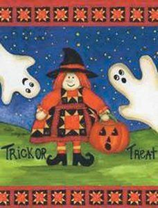 """Trick or Treat Witchy Woman and Ghosts Mini Flag by Custom Decor. $5.99. 100% Polyester - Fade & Mold Resistant. Permanently Dyed with a Vivid Color Process. Bright Beautiful Artwork. Flag Measures Approximately 12"""" x 18"""". Garden Flag Outdoor Décor. ######################################################################################################################################################################################################################################..."""