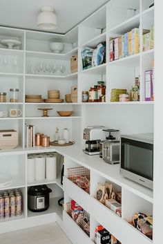 The large pantry allows all the food to be in one place, visually out of the way, yet still super convenient to the rest of the kitchen. Tagged: Storage Room and Shelves Storage Type. Kitchen Pantry Design, Kitchen Organization Pantry, Pantry Shelving, Pantry Laundry Room, New Kitchen, Walk In Pantry, Grand Kitchen, Small Pantry Cabinet, Small Pantry Closet