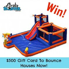 $ 500 Bounce Houses Now Gift Card Giveaway for your choice inflatable bounce house, water park, waterslide, etc! Ends 7/15