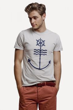 Anchor Tee in Seashell by Frank and Oak