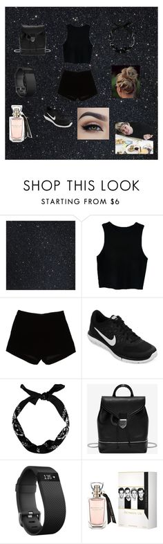 """""""Casual Black"""" by alexhoran0720 on Polyvore featuring Andrew Gn, NIKE, Alexander McQueen, Fitbit, women's clothing, women, female, woman, misses and juniors"""
