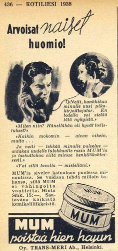 Mum'ia kainaloon - (Kotiliesi 1938