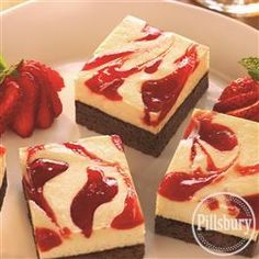 Strawberry Cheesecake Brownies from Pillsbury® Baking