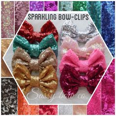 Build your own Sparkling bow wrap from Sassybowco.com . Choose from 19 different sparkling bow colors! $10.50 each