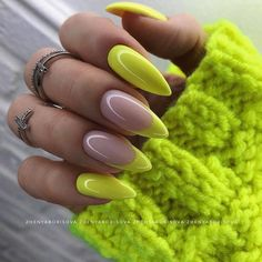 Cute Acrylic Nails 704320829213618861 - Source by Neon Nails, Yellow Nails, Swag Nails, My Nails, Rock Nails, Happy Nails, Gorgeous Nails, Pretty Nails, Pretty Eyes