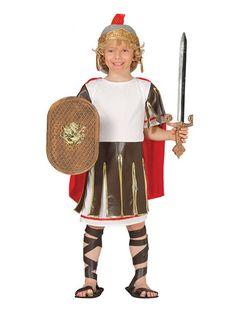 El disfraz de soldado romano niño, incluye Túnica y capa. ( no incluye accesorios) en DisfracesMimo.com