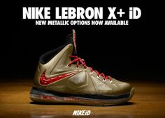NIKEiD Lebron 10 Sneaker Available With New Metallic Opinions
