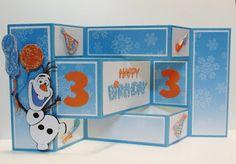 Disney's Frozen Cricut cartridge Olaf Birthday card