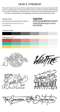 Southern Swim Branding by Jeremy Teff, via Behance