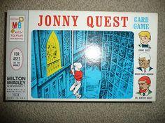 VINTAGE 1965 JONNY QUEST CARD GAME MINT IN BOX 100% COMPLETE RARE BLUE VERSION! | eBay