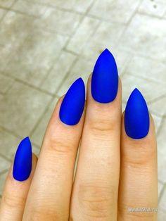 matte blue mani. #nails