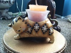 Roman Inc. Cat Votive Candle Holder