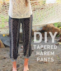 DIY harem pants. http://blog.swell.com/DIY-Tapered-Pant