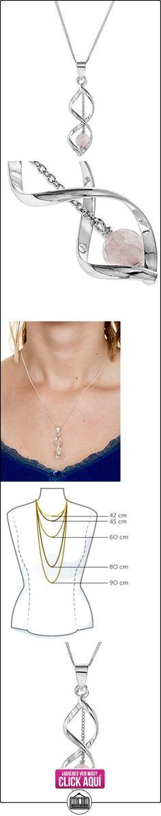 Pendentif - Colgante de mujer de plata con cuarzos, 45 cm  ✿ Joyas para mujer - Las mejores ofertas ✿ ▬► Ver oferta: https://comprar.io/goto/B001P808M6