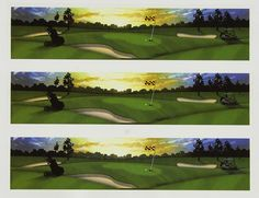 Lucks Edible Image Golf Scene (3 strips/pcs enough for a 9 cake) ** New and awesome product awaits you, Read it now : : baking decorations