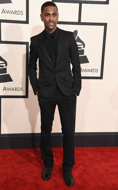 Black Monterey tuxedo, notch lapel tuxedo, black shirt with black ...