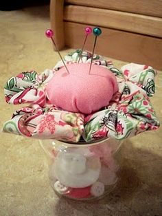 Baby Food Jar Pin Cushion