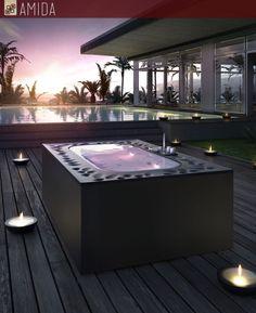 #estate e voglia di #mare: assapora la bellezza di un bel bagno all'aperto nelle nuove mini #spa della Glass! Vieni da Amida e scopri di più!