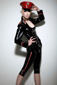 Latex Military Jacket  based on Traditional Dress Uniform from our Torture Garden Collection. £369.00, via Etsy.