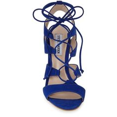 Women's Steve Madden 'sandalia' Sandal ($50) ❤ liked on Polyvore featuring shoes, sandals, heels, zapatos, stiletto heel shoes, strappy heeled sandals, stiletto shoes, strap heel sandals and stiletto high heel shoes