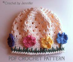 Flower Crochet Hat #crochet #pattern