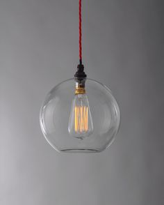 Hereford Clear Glass Globe Light - so on trend and made in the UK. Fabulous ... and just down the road.