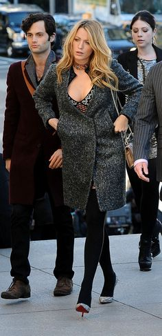 For Blair's wedding ceremony, Serena Van Der Woodsen put on her glitziest pumps by Christian Louboutin on Gossip Girl's series finale.