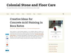 Creative Ideas for Concrete Acid Staining in Boca Raton
