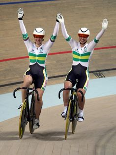 Kaarle McCulloch and Anna Meares Photos - Anna Meares and Kaarle McCulloch of Australia celebrate winning the Women's Team Sprint Final at the UCI Track Cycling World Championships at the BGZ Arena on March 26, 2009 in Pruszkow, Poland.  (Photo by Clive Rose/Getty Images) <i></i>* Local Caption <i></i>* Anna Meares;Kaarle McCulloch - UCI Track World Championships - Day Two