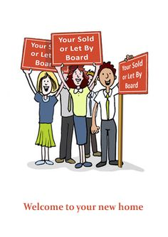 Greetings Card for letting Agents to send to tenants when they move in. Reference Number: LB35