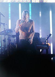 Shirtless Thom Yorke - #Radiohead
