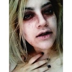 """""""Infected"""" Halloween inspired look. Makeup done by My Sister in Law #halloween #scary #sick"""