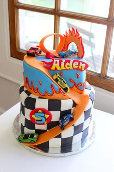 Hot Wheels Cake #hotwheels #carcake