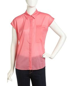 Jennifer Lloyd Sleeveless Georgette Blouse - only $12.06! (Regularly $156!) PrettyThrifty.com