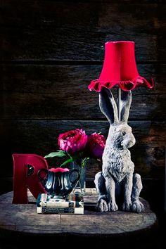 Cute R charecter & a bunnylamp