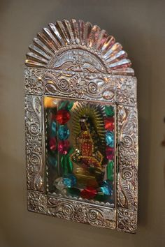 Tin shrine to Guadalupe