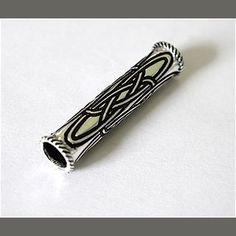 Bartperle Haarperle Druide, groß und lang, Silber 925