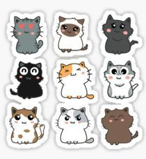 Cat Set stickers featuring millions of original designs created by independent artists. Cartoon Stickers, Tumblr Stickers, Cat Stickers, Printable Stickers, Free Stickers, Journal Stickers, Scrapbook Stickers, Cartoon Cats, Cute Cartoon