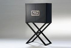 The Versace Cocktail Crystal Glass Storage Cabinet is structured with a strong wood essence base and then lacquered to finish in black shiny. Asian Furniture, Chinese Furniture, Small Furniture, Furniture Decor, Furniture Design, Contemporary Cabinets, Modern Cabinets, Contemporary Furniture, Bar Cabinets