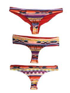 Choose Your Style  Serape Bikini Bottoms by AZTECASWIMWEAR on Etsy, $38.00